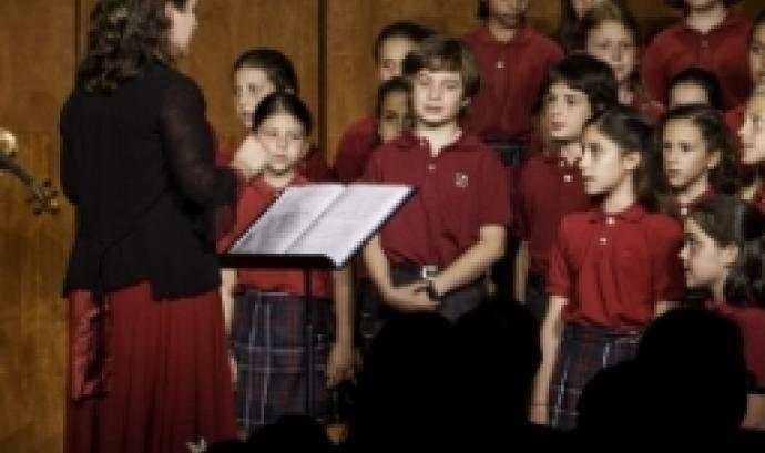 Cor infantil a la V edició del concert, l'any 2018. Font: Fundació Paliaclínic