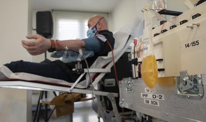 Campanya de donació de plasma a l'antic Mercat de Sant Joan de Sabadell el maig de 2021. Font: Banc de Sang i Teixits