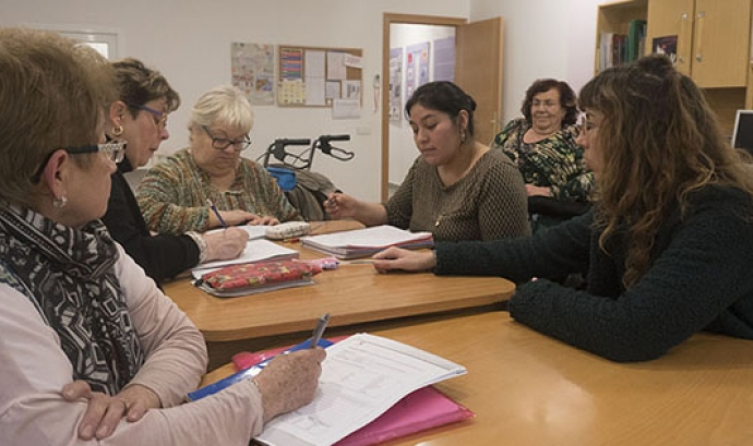 L'Associació de Dones No Estandard, en plena feina. Font: Dones no Estandard