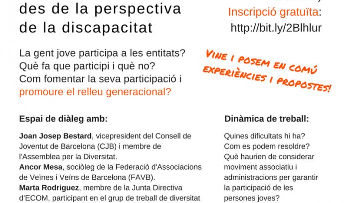Joves, activisme i participació: El repte de l'associacionisme des de la perspectiva de la discapacitat