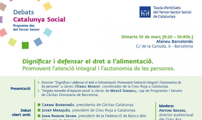 Debat: Dignificar i defensar el dret a l'alimentació