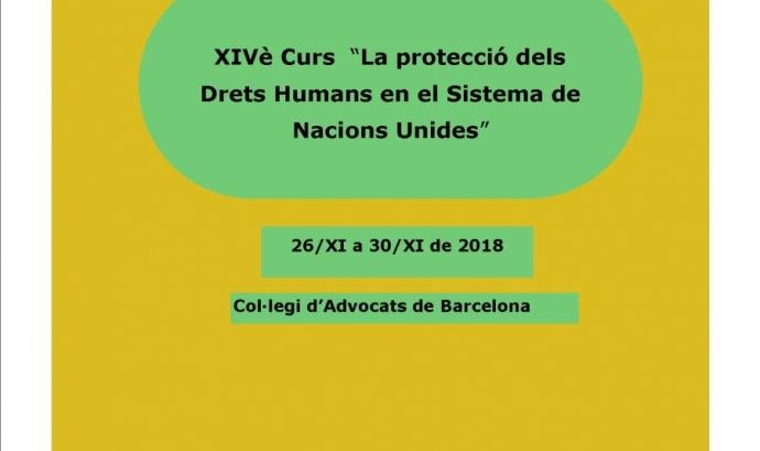 El curs tractarà temes com els drets humans i el dret internacional humanitari. Font: Lafede.cat.
