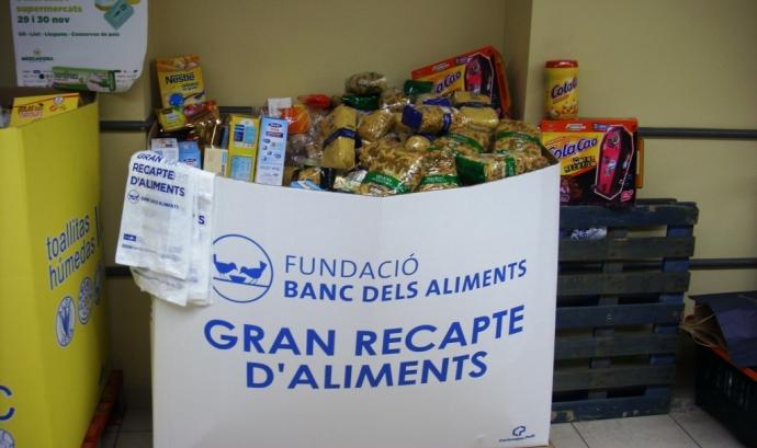 La novena edició del Gran Recapte tindrà lloc l'1 i el 2 de desembre Font: Banc dels Aliments