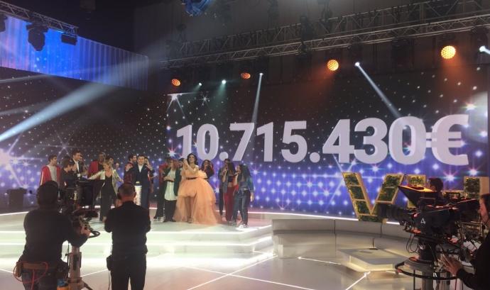 La Marató de TV3 assoleix un nou rècord de recaptació.