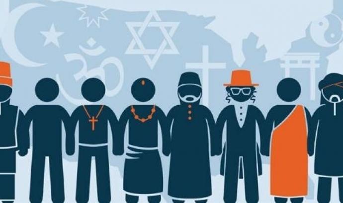 Il·lustració de persones de diferents religions  Font: Gran Valley State University