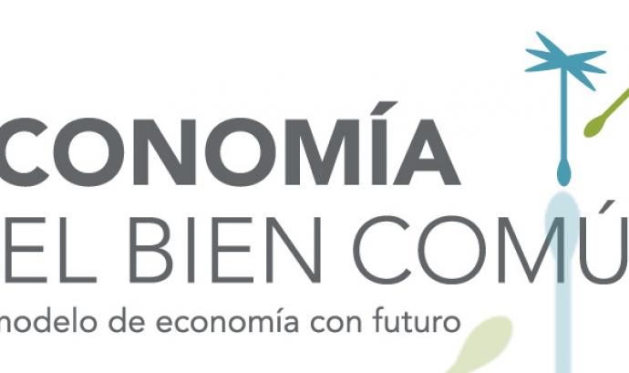 Logotip del moviment de l'Economia del Bé Comú en castellà