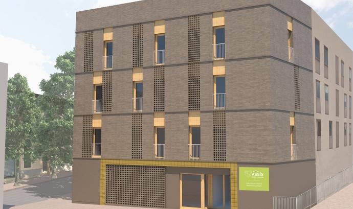 El nou edifici estarà en funcionament al setembre de 2020. Font: Assís centre d'acollida