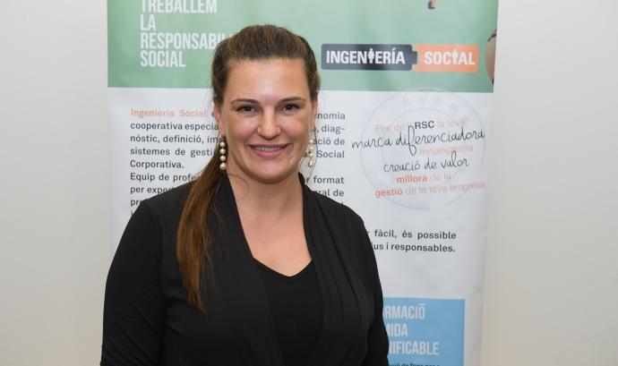 Elena López és la directora d'Enginyeria Social de la Setmana de la RSC a Catalunya.  Font: Setmana RSC