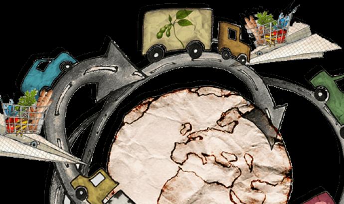 Campanya d'Amigos de la Terra sobre aliments quilomètrics Font: