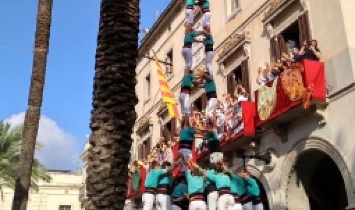 Actuació d'els Verds a la Diada Castellera de Vilanova el 28 de juliol