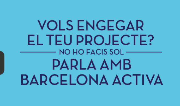 Imatge cartell Barcelona Activa. Font: web Barcelona Activa Font: