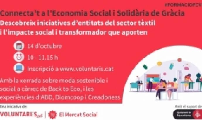 El webinar 'Connecta't a l'Economia Social i Solidària de Gràcia' acostarà la moda sostenible i social a les persones assistents.