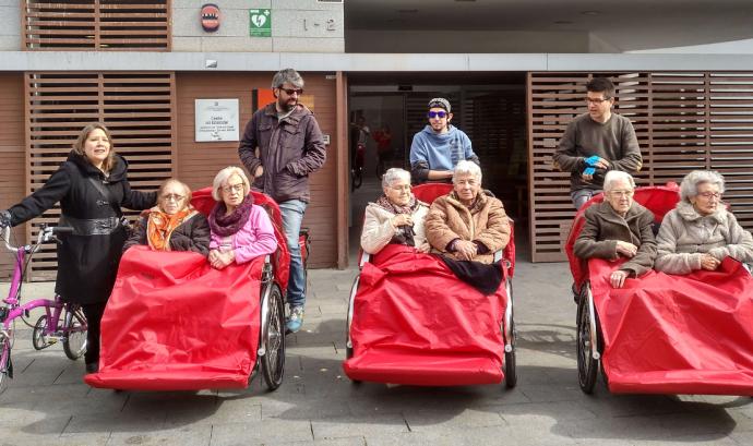 Gent gran als tricicles del projecte