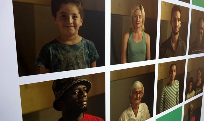 Fotografies de migrants exposades a En tierra de nadie