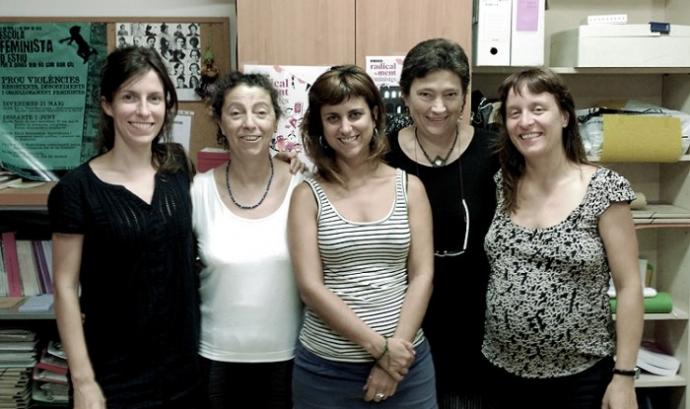 Membres de l'equip de Tamaia, organització que impulsa la campanya