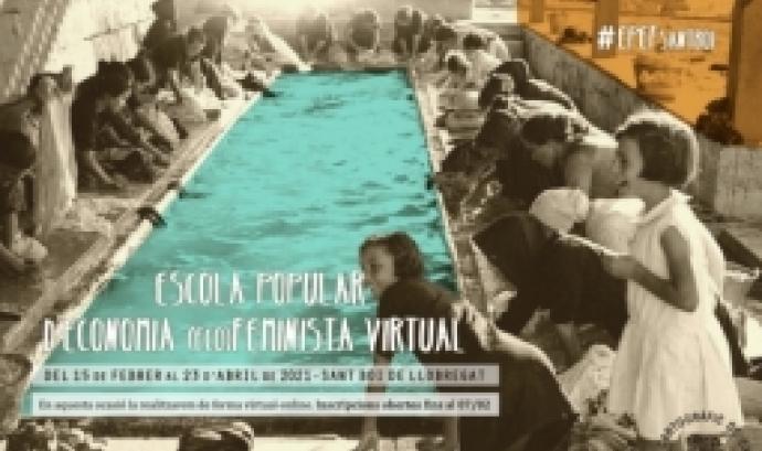 Cartell de la 14a edició de l'Escola Popular d'Economia (eco)Feminista Virtual. Font: CooperAcció