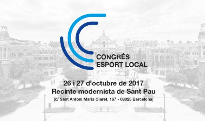 El Congrés Esport Local se celebrarà els dies 26 i 27 d'octubre a Barcelona. Font: Diputació de Barcelona