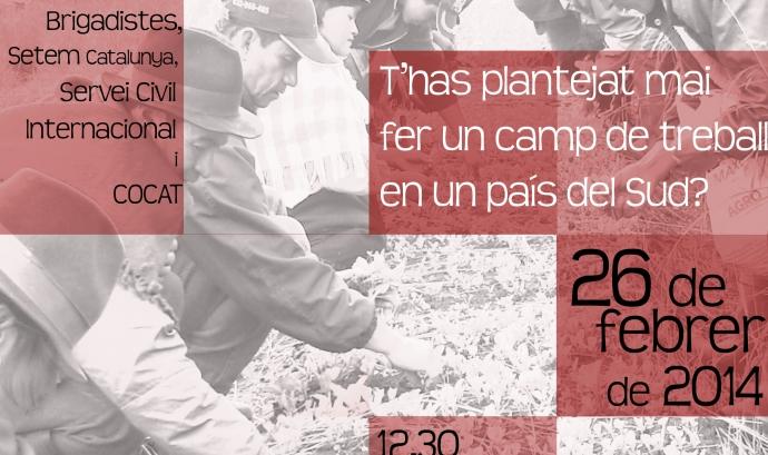 Cartell de les sessions informatives d'estades solidàries de la FAS (Font: FAS)