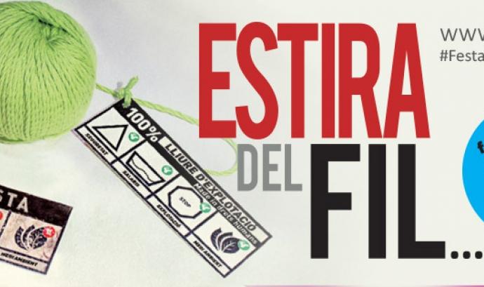 Cartell de la XVI Festa del Comerç Just i la Banca Ètica Font: