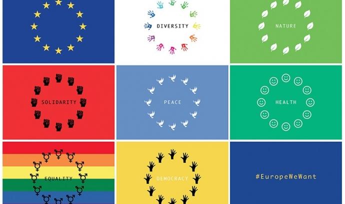 Valors de la campanya #EuropeWeWant