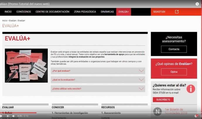 Evalúa+ pàgina web
