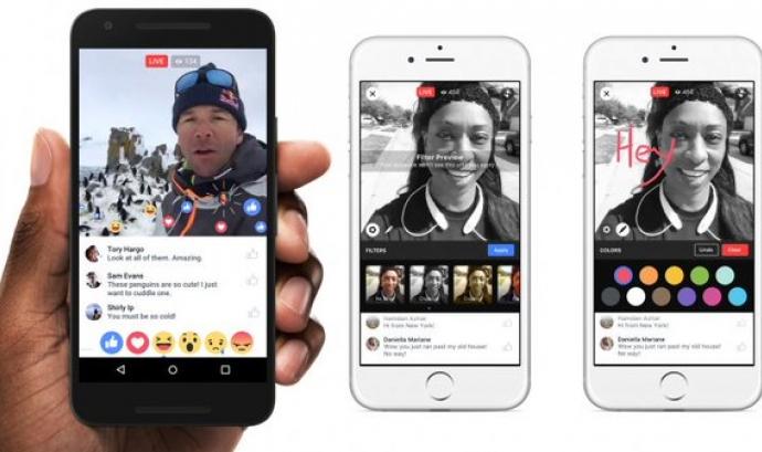 Facebook Live també us vol ajudar a retransmetre esdeveniments Font: