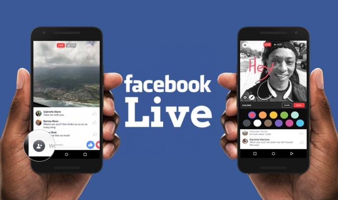 Feu una bona realització dels vostres esdeveniments per Facebook Live! Font: