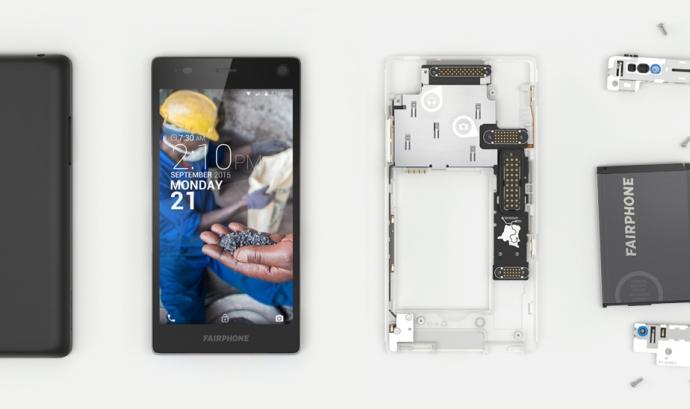 La principal característica del nou Fairphone és la construcció modular Font: