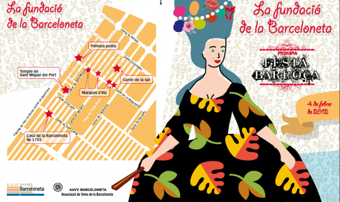 Cartell de la Festa barroca de la Barceloneta Font: