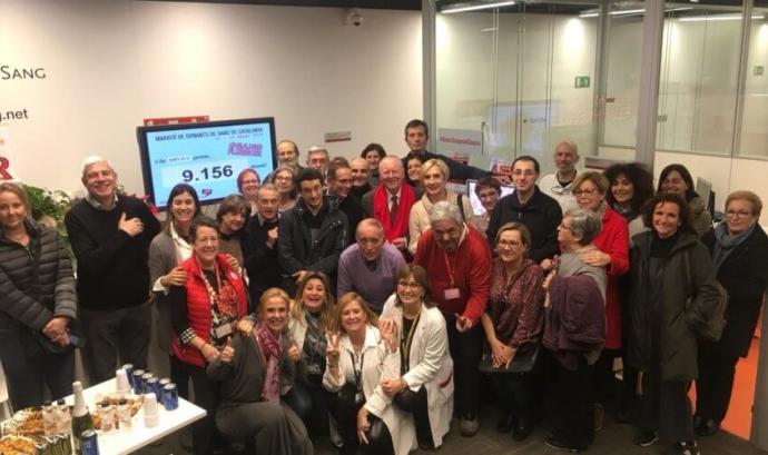 Foto de grup a l'Hospital de Sant Pau
