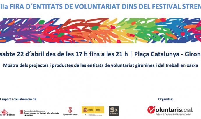 XVII Fira d'entitats de voluntariat de Girona Font: FCVS