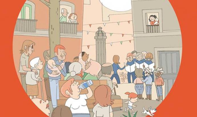 Un detall de la il·lustració del cartell. Autora: Monse Fransoy