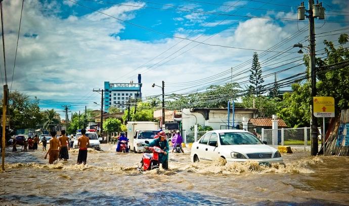 Inundació per fortes pluges. Font: Pixabay Font: