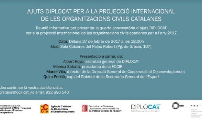 Reunió informativa de la 4a convocatòria dels Ajuts Diplocat - Foto: FOCIR