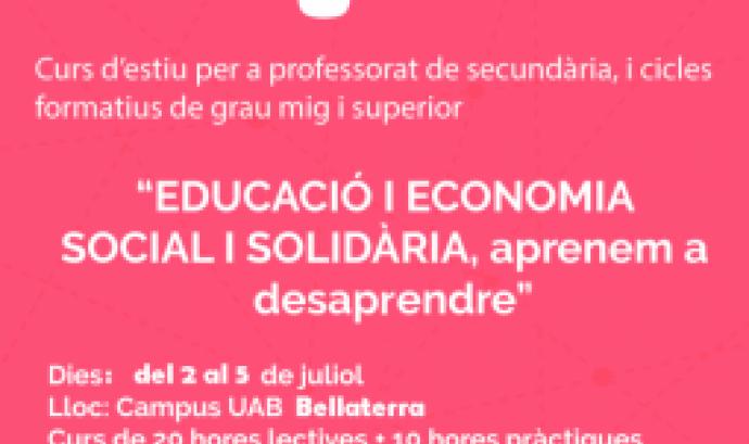 Curs 'Educació i economia social i solidària, aprenem a desaprendre'. Font: Ateneu Cooperatiu del Vallès Occidental