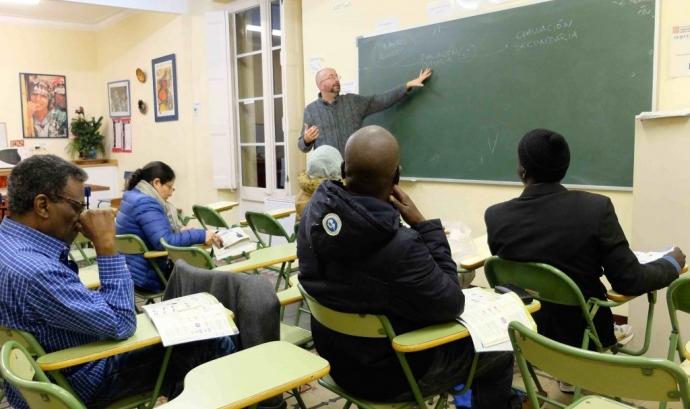 Programa de formació a Bayt-al-Thaqafa. Font: Laura Morral