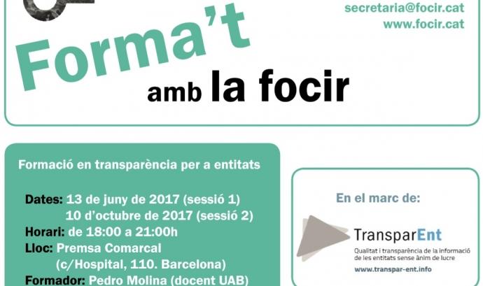 Cartell de la formació. Font: FOCIR