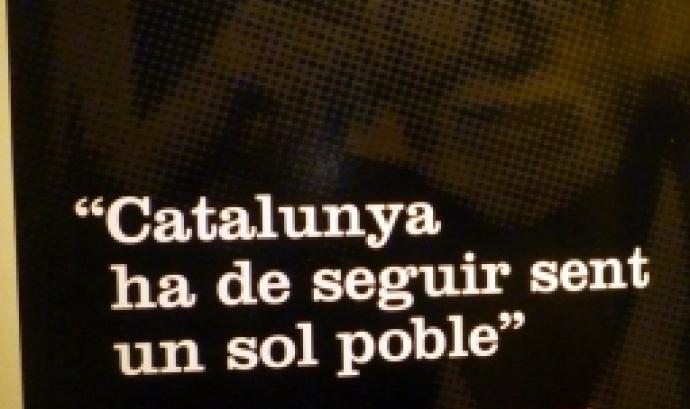 Un dels panells de l'exposició al Museu d'Història de Catalunya on s'hi reflecteix el desig fet realitat de Candel.  Font: