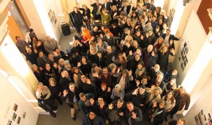 Fotografia de grup per commemorar l'aniversari de l'entitat Font: