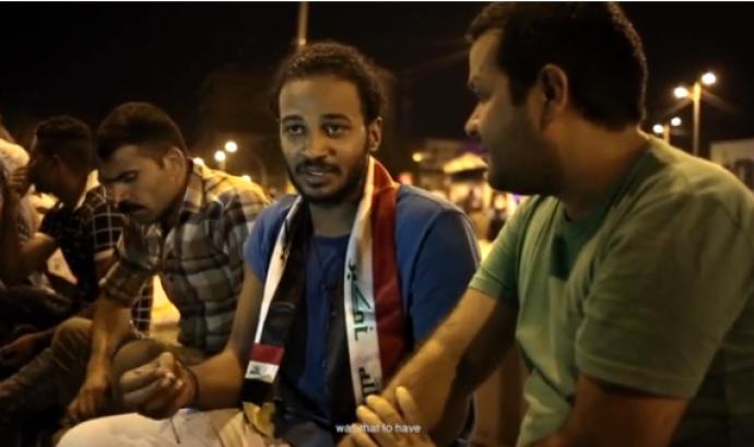 Fotograma del vídeo sobre les manifestacions a Baghdad Font: