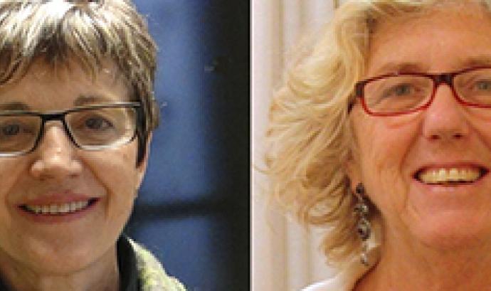 Francina Alsina i Núria Carrera, candidates a la presidència de la Taula del Tercer Sector