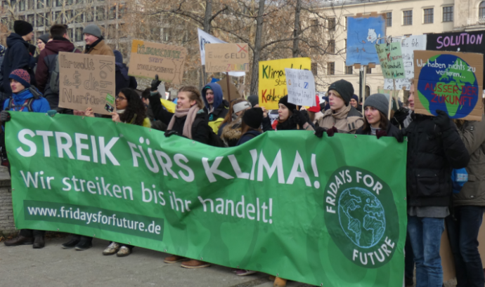 Manifestació del moviment 'Fridays for future' a Berlín, el passat 25 de gener. Font: Wikimedia Commons