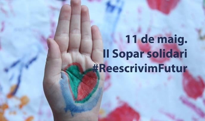 El II Sopar Solidari #ReescrivimFutur se celebra el divendres 11 de maig. Font: Fundació Comtal