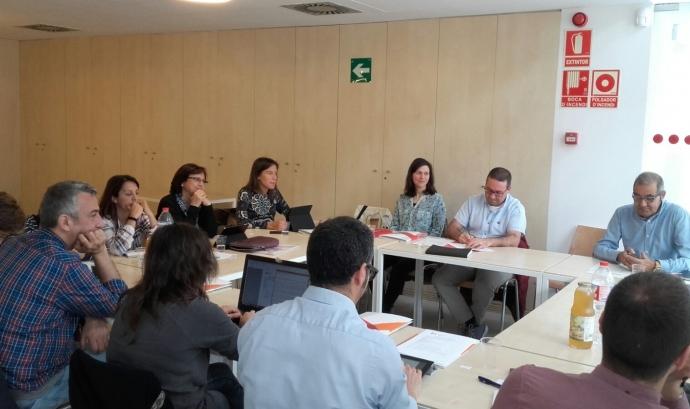 Reunió d'entitats membre de la Coordinadora de Mentorial Social. Font: Fundesplai Font: