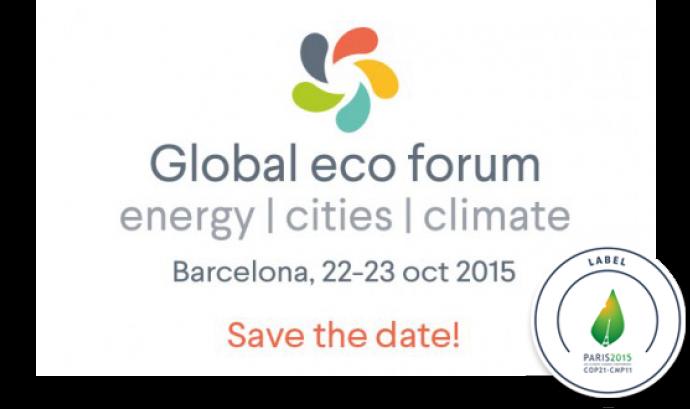 Cartell del Global Eco Forum. Font: http://www.global-ecoforum.org