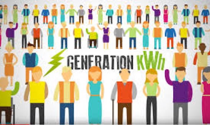 La ciutadania pot col·laborar en la generació d'energia neta amb Som Energia (imatge:somenergia.coop Font: