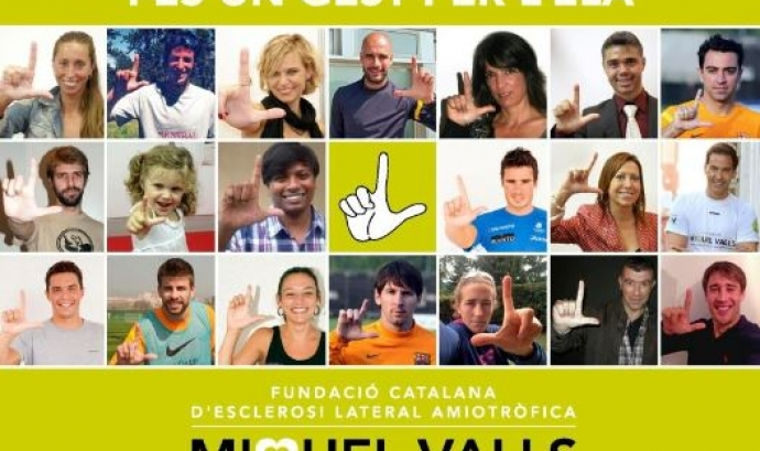 Fes un Gest per l'ELA.    Font: Fundació Miquel Valls