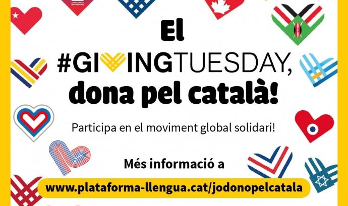 El #GivingTuesday és un moviment global que vol incentivar les bones accions de les persones. Font: Giving Tuesday Cat.