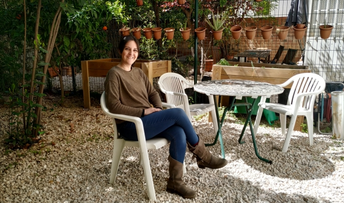 Glòria Sebastián, psicòloga i musicoterapeuta d'ACFAMES.  Font: ACFAMES