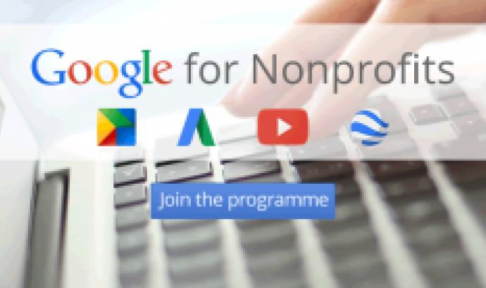 Google Non Profits ofereix serveis a través de diverses aplicacions